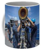 Sailors Load Rim-7 Sea Sparrow Missiles Coffee Mug