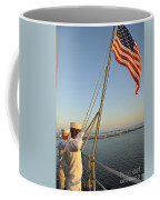 Sailors Salute The National Ensign Coffee Mug