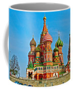 Saint Basil Cathedral In Red Square In Moscow- Russia Coffee Mug