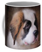 Saint Bernard Puppy Coffee Mug by Jai Johnson
