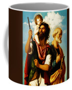 Saint Christopher With Saint Peter Coffee Mug