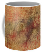 Saint Louis Missouri Street Map Schematic Watercolor On Old Parchment From 1903 Coffee Mug