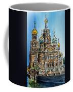 Saint Petersburg Russia The Church Of Our Savior On The Spilled Blood Coffee Mug by Irina Sztukowski
