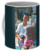 Salesman In The Marketplace In Tachilek-burma Coffee Mug