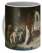 Salida Del Boabdil, At The Alhambra Oil On Canvas Coffee Mug