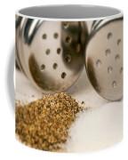 Salt And Pepper Shaker Spilled Coffee Mug