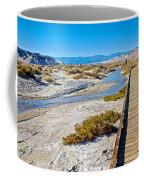 Salt Creek Trail Boardwalk In Death Valley National Park-california  Coffee Mug