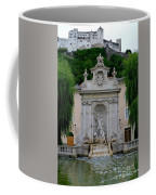 Salzburg Castle With Fountain Coffee Mug by Carol Groenen