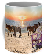 Sam Watches Over The Harem  Coffee Mug by Betsy Knapp
