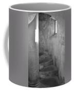 San Christobal Staircase- Black And White Coffee Mug