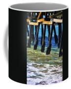 San Clemente Pier Coffee Mug by Mariola Bitner