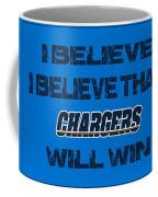 San Diego Chargers I Believe Coffee Mug