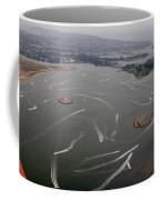 San Diego Mission Bay Water Aerial Coffee Mug