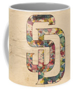 San Diego Padres Logo Vintage Coffee Mug