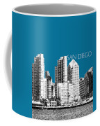 San Diego Skyline 1 - Steel Coffee Mug
