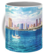 San Diego Skyline And Convention Ctr Coffee Mug by Mary Helmreich