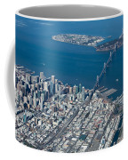 San Francisco Bay Bridge Aerial Photograph Coffee Mug