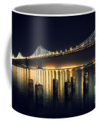 San Francisco Bay Bridge Illuminated Coffee Mug