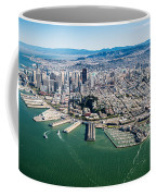 San Francisco Bay Piers Aloft Coffee Mug
