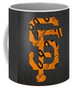 San Francisco Giants Baseball Vintage Logo License Plate Art Coffee Mug