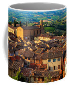 San Gimignano From Above Coffee Mug by Inge Johnsson