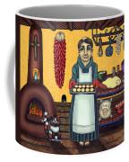 San Pascual Making Biscochitos Coffee Mug by Victoria De Almeida