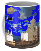 San Xavier Mission Brooding Clouds Post Card Ray Manley  Photo No Date-2013  Coffee Mug