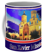San Xavier Mission Postcard #1  With Lettering No Date-2013  Coffee Mug
