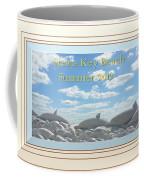 Sand Dolphins - Digitally Framed Coffee Mug