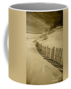 Sand Dunes And Fence Coffee Mug