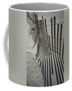 Sand Fence During Winter On The Beach Coffee Mug