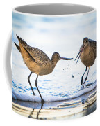 Sanderlings Playing At The Beach Coffee Mug