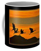 Sandhill Crane At Sunset Coffee Mug