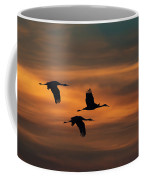 Sandhill Crane Sunset Coffee Mug