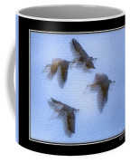 Sandhill Cranes In Flight Coffee Mug