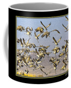 Sandhill Cranes Startled 2 Coffee Mug