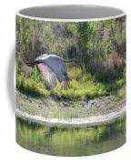 Sandhill Over The Pond Coffee Mug