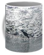 Sandpiper Finds Food In Surf Coffee Mug