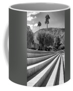 Sandpiper Stairs Bw Palm Desert Coffee Mug by William Dey