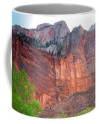 Sandstone Wall In Zion Coffee Mug by Robert Bales