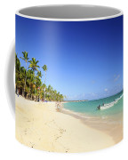 Sandy Beach On Caribbean Resort  Coffee Mug