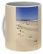 Sandy Beach On Pacific Ocean In Canada Coffee Mug