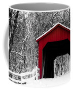 Sandy Creek Cover Bridge With A Touch Of Red Coffee Mug