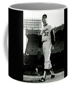 Sandy Koufax Vintage Baseball Poster Coffee Mug by Gianfranco Weiss