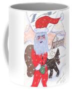 Santa And His Reindeer Coffee Mug