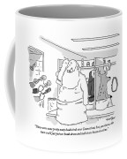 Santa Claus Is In A Locker Room Speaking Coffee Mug