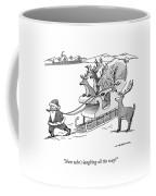 Santa Claus Pulls A Sleigh Full Of Reindeer Coffee Mug