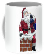 Santa Down The Chimney Coffee Mug