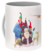 Santa Gets Ready Coffee Mug