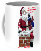 Santa Greeting Card Coffee Mug